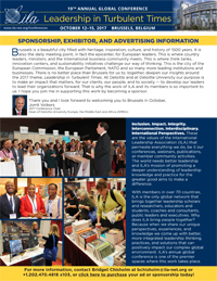 Image of First Page of ILA 2017 Sponsorship, Exhibitor, and Advertiser Brochure