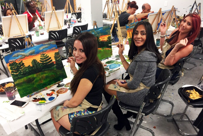 Painting at Uptown Art