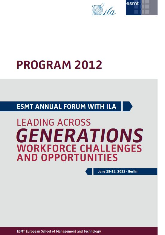 2012 Berlin Program Book Cover