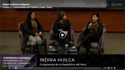 Featured Panel of Indigenous Women Leaders at Lima - Click to View Facebook Live Video
