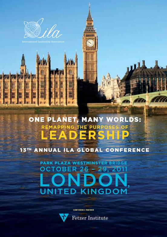 2011 London Program Book Cover