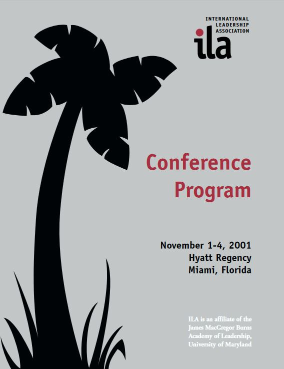 2001 Miami Program Book Cover