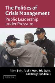 The Politics of Crisis Management: Public Leadership Under Pressure Book Cover