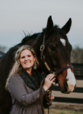 Photo of Brittany Adams Pope and George the Horse