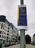 Banners for Leadership in Turbulent Times adorn the streets of Brussels