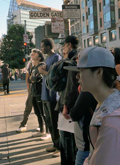 Students at the Robertson Center for Intercultural Leadership visit the Tenderloin district in San Franciso, CA