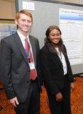 Competitors at the Student Case Competition Poster Showcase