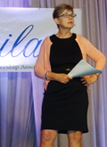 Photo of Plenary Speaker Sally Helgesen - Tapping the Tower of the Female Vision - at #ILA2017WLC
