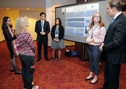 Undergradate Winners from Gonzaga During the Opening Night Poster Session