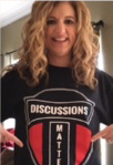 Photo of Woman in Discussions Matter T-Shirt