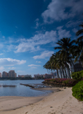 Downtown West Palm Beach skyline as viewed from Palm Beach.